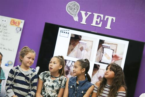 students exploring the power of yet