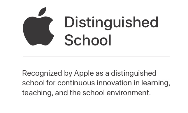 Apple distinguished schools logo.