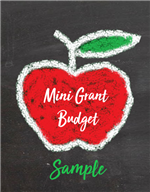 mini grant budget sample